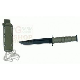 CROSSNAR KNIFE FIXED BLADE WITH FOFERO IN ABS COLOR GREEN CM. 15