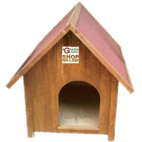 MEDIUM PAINTED WOODEN KENNEL FOR DOG CM. 66x78X92h