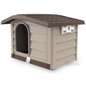 Kennel for medium-sized dogs Bama Bungalow beige dimensions cm. 89x75x62h.
