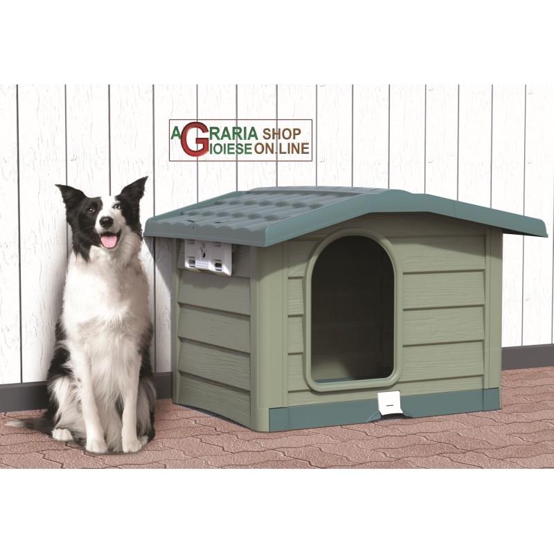 Cucce Piccole Per Cani cuccia per cani di media taglia bama bungalow verde dimensioni cm.  89x75x62h.