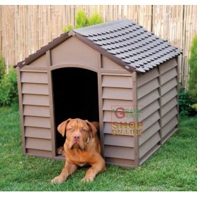 KENNEL FOR DOGS OF MEDIUM SIZE IN PLASTIC PVC CM.78x84x80h. REMOVABLE BROWN