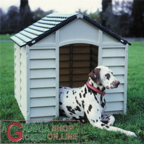 KENNEL FOR DOGS OF MEDIUM SIZE IN PLASTIC PVC CM.78x84x80h. REMOVABLE GREEN