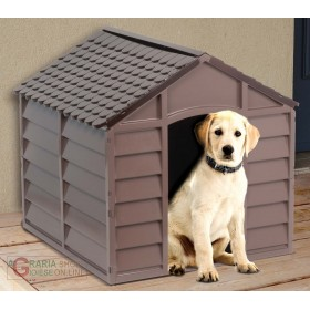 KENNEL FOR SMALL SIZE DOGS IN PVC PLASTIC CM.71x71x68h. REMOVABLE BROWN