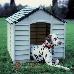 KENNEL FOR SMALL SIZE DOGS IN PVC PLASTIC CM.71x71x68h. REMOVABLE GREEN