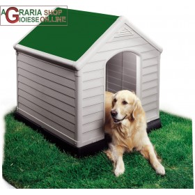 CUCCIA PER CANI DOG HOUSE KETER TETTO COLOR VERDE CM 95x99x99h EXTRA LARGE