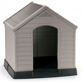 KENNEL FOR DOG HOUSE KETER ROOF COLOR TERRACOTTA CM 95x99x99h