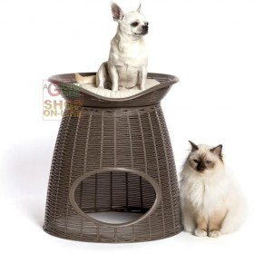Bed for Dogs and Cats Bama PASHA Tortora cm. 52x50x46 / 55h.