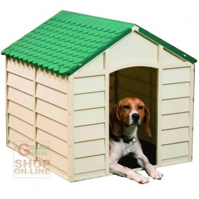 KENNEL FOR DOGS IN PVC PLASTIC CM. 72X71X68H. SOMTABLE GREEN