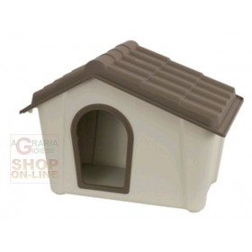 KENNEL FOR DOGS IN RESIN COLOR BEIGE TAUPE cm. 57.3x39.4x41.8h.