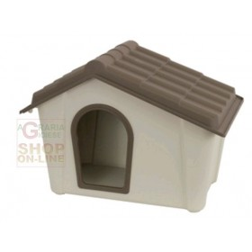 KENNEL FOR DOGS IN RESIN COLOR BEIGE TAUPE CM. 79 X 59.2 X 60.8 H