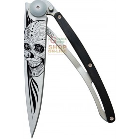 DEEJO TATTOO 37G LATINO SKULL GRANADILLA WOOD CHIUDIBILE LAMA INOX CM. 20,5