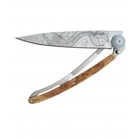 DEEJO WOOD 37G JUNIPER FISH FOLDING KNIFE CM. 20.5