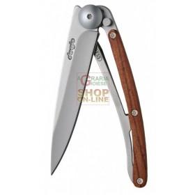 DEEJO WOOD 37G PADAUK FOLDING KNIFE STAINLESS BLADE CM. 20.5