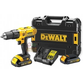 DEWALT DRILL WITH 3 LITHIUM BATTERIES 18V 1,5 AH WITH PERCUSSION WITHOUT BRUSHES Mod. DCD795S2