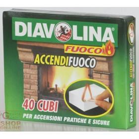 DIAVOLINA ACCENDIFUOCO 40 CUBETTI ART.15300