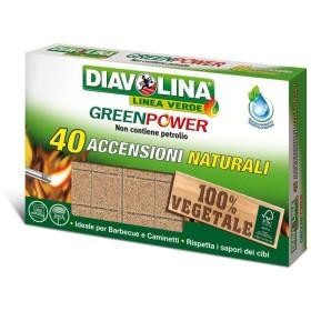 DIAVOLINA GREENPOWER NATURAL 40 IGNITIONS