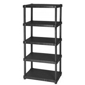 DIMAPLAST SHELF IN SHOCK RESIN WITH 5 SHELVES HELIOS BLACK cm. 80x40x188h.