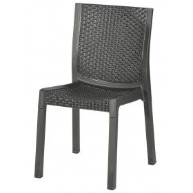 DIMAPLAST CHAIR IN RHATTAN PANAREA RESIN ANTHRACITE COLOR