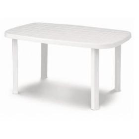 DIMAPLAST RESIN TABLE OTELLO GARDEN WHITE cm. 140x80x72h.
