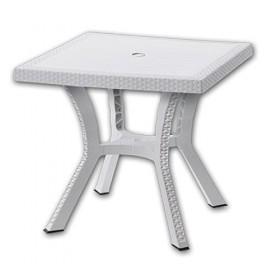 DIMAPLAST RESIN TABLE RIGOLETTO ELITTE WHITE cm. 60x60x70h.