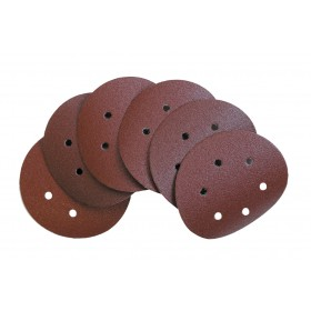 ABRASIVE DISC WITH VELCRO 6 HOLES MM. 150 GR. 40