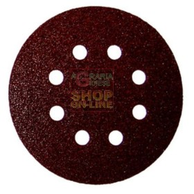 VELCRO ABRASIVE DISC WITH 8 HOLES MM. 125 GR. 100