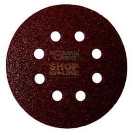 VELCRO ABRASIVE DISC WITH 8 HOLES MM. 125 GR. 150