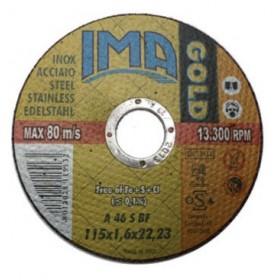 DISCO PER SMERIGLIATIRCE TAGLIO INOX 115X1,2X22,23