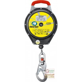 FALL ARREST DEVICE WITH AUTOMATIC RECALL 15 MT STEEL CABLE PLASTIC CASE