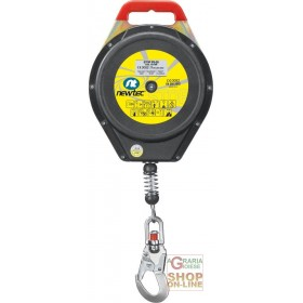 FALL ARREST DEVICE WITH AUTOMATIC RECALL 28 MT STEEL CABLE PLASTIC HOUSING