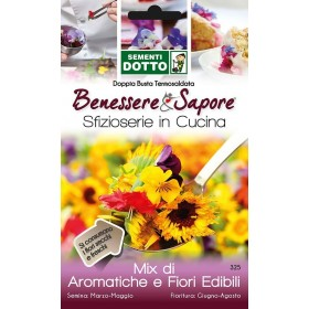 DOTTO BAGS SEEDS OF AROMATIC MIX AND EDIBLE FLOWERS