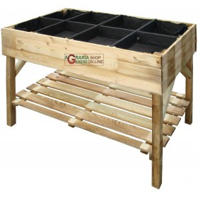 HANGING GARDEN SEEDING BED IN IMPREGNATED PINE WOOD CM. 120x60x87h.