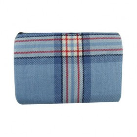 OUTLIVING BLANKET FOR PIC NIC WITH ANTI-DAMP LINING IN PVC OU 589 LIGHT BLUE