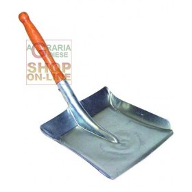 SCOOP FOR COAL WITH WOODEN HANDLE CM. 23X23