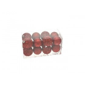 BALLS BALLS FOR CHRISTMAS TREE RED SNOW CM. 6 PCS 16 MOD. 1937