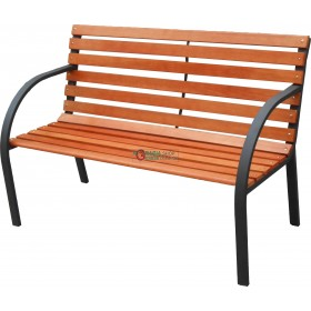 BENCH IN STEEL AND WOOD MODEL VIALE cm. 122x64x80h
