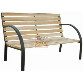 BENCH IN STEEL AND SCANDINAVIAN WOOD 12 120X62X82H