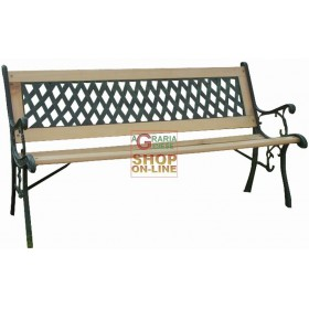 BENCH IN CAST IRON AND WOOD BLINKY REGINA 122X56X74H