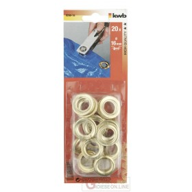 Einhell 20 brass-plated eyelets diam.10mm