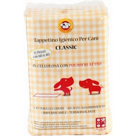 CLASSIC NAPPY FOR DOGS 40X60 WITH POLYMERS HYGIENIC MAT PCS. 15