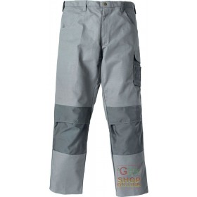 100% COTTON TROUSERS WITH POLYESTER FABRIC INSERTS COLOR GRAY