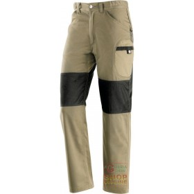 TROUSERS 60% COTTON 40% POLYESTER REINFORCEMENTS IN POLYESTER COLOR KAKI BLACK TG S XXL