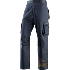 TROUSERS 65% POLYESTER 35% COTTON MULTIPOCKETS BLUE COLOR SIZE
