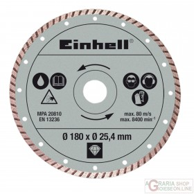 Einhell Disco diamantato 180 x 25 4 x 2 2mm turbo