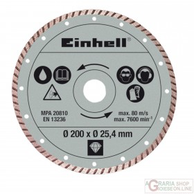 Einhell Disco diamantato 200 x 25 4 x 2 2mm turbo