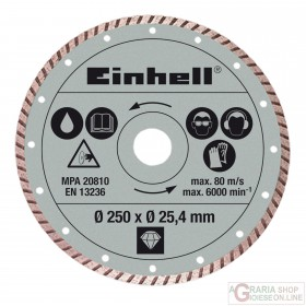 Einhell Disco diamantato 250 x 25 4 x 2 2xmm turbo
