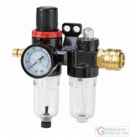 Einhell Filtro riduttore pressione con lubrificatore R 1/4
