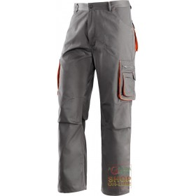 TROUSERS 65% POLYESTER 35% COTTON MULTI-POCKETS COLOR GRAY