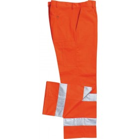 HIGH VISIBILITY TROUSERS ORANGE FUSTAGNO
