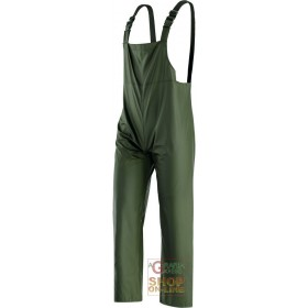 PANTS WITH BIB IN POLYURETHANE COLOR GREEN TG M XXL